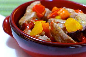 Bekri Meze/ Mpekri meze (Drunken pork stew)