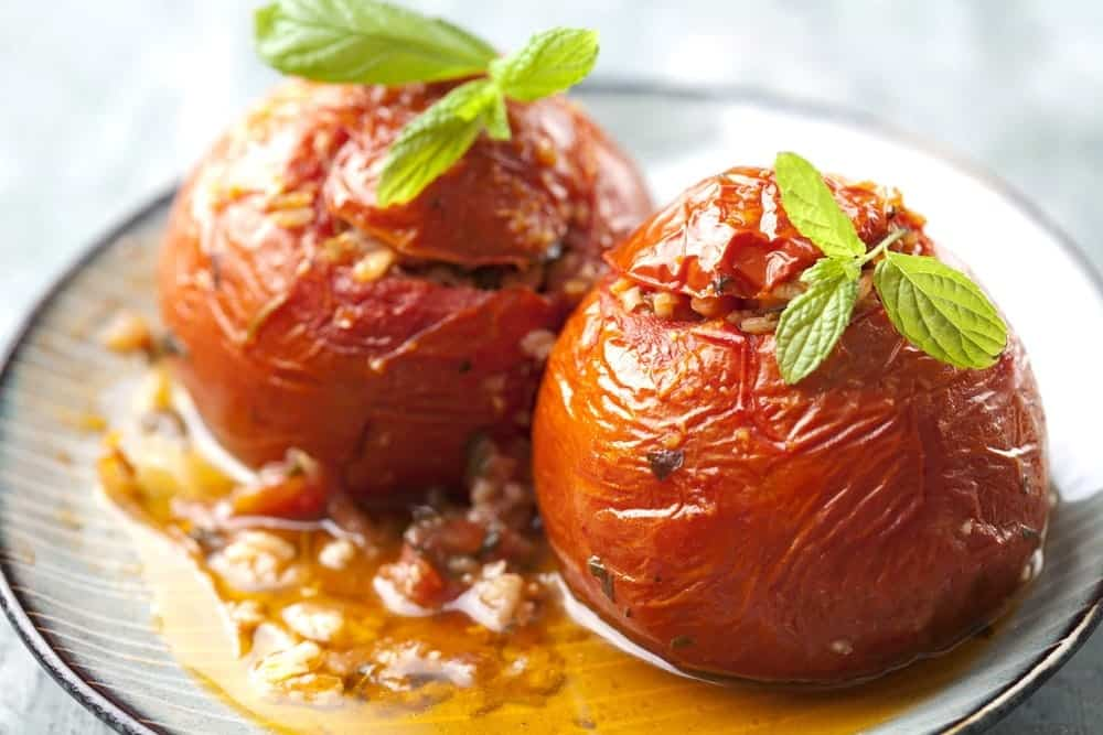 Gemista Recipe Greek Stuffed Tomatoes And Peppers With
