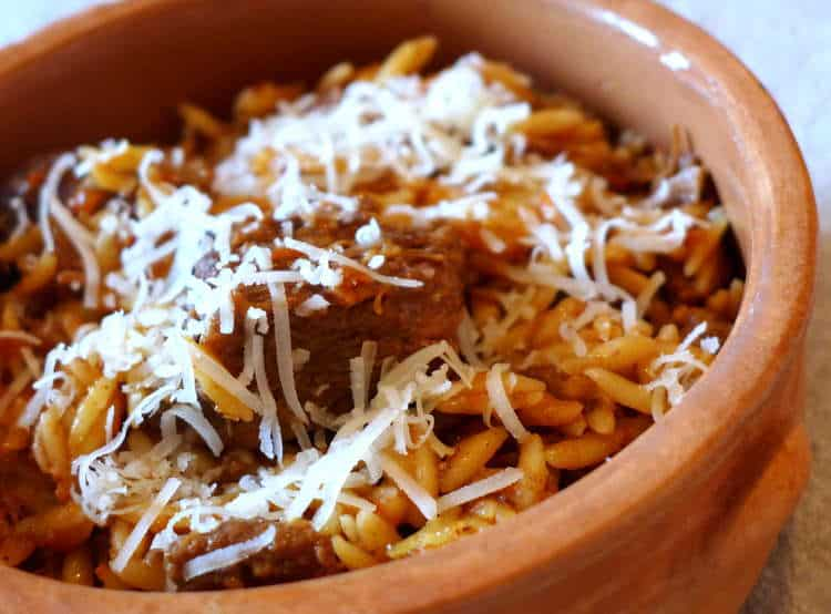 Giouvetsi recipe (Greek Beef stew with Orzo pasta)