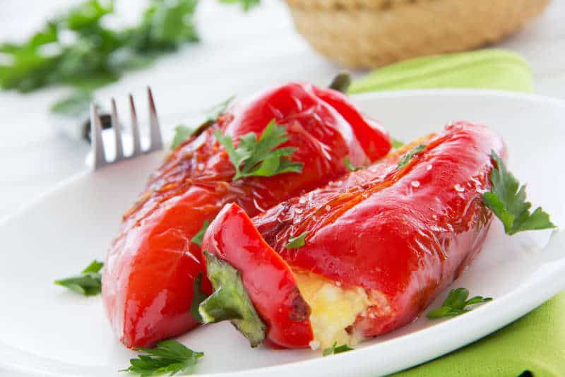 Greek Stuffed Peppers with Feta Cheese Recipe - My Greek Dish