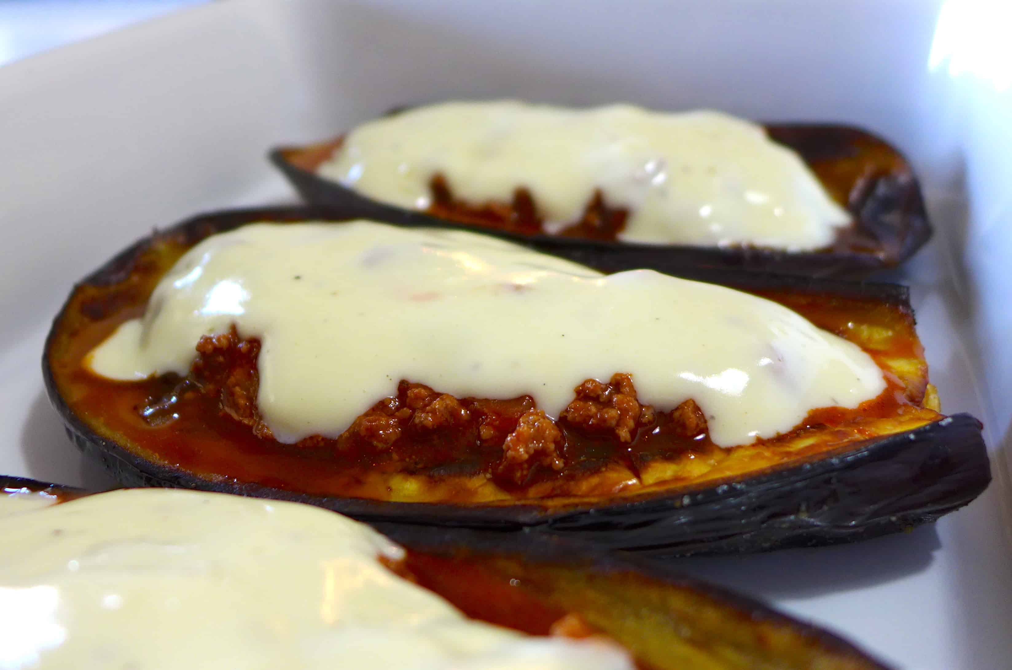 Greek stuffed Eggplant recipe (Melitzanes Papoutsakia)-prep2 - My ...