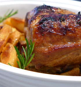 Greek style Roast Pork with Honey Sauce