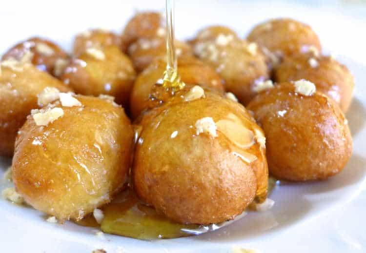 Loukoumades recipe (Greek Donuts with Honey and Walnuts)