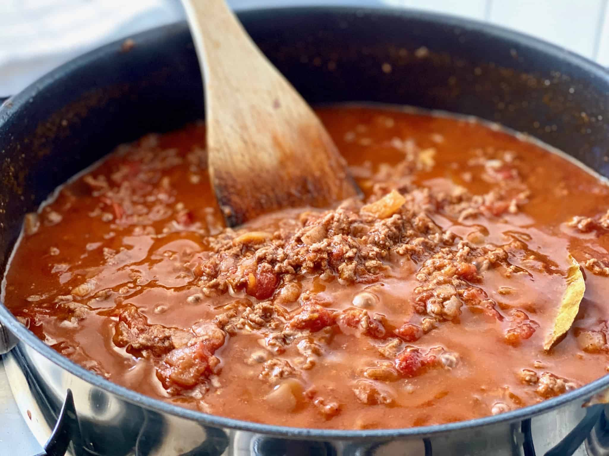 Meat sauce for Greek Moussaka recipe
