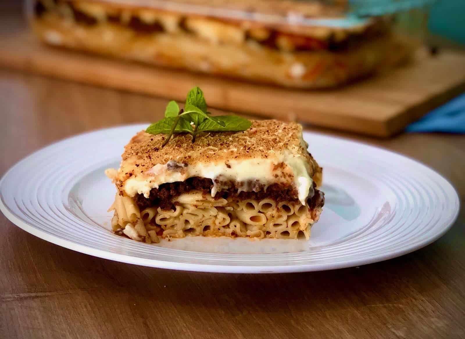 Greek Pastitsio Recipe Greek Lasagna With Bechamel My Greek Dish