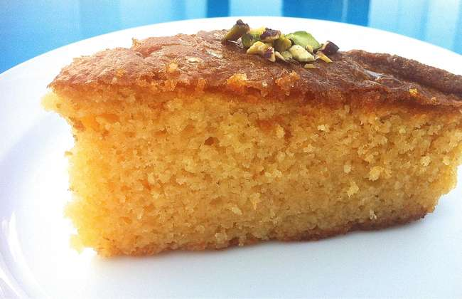 Greek Ravani / Revani recipe (Coconut cake with syrup)