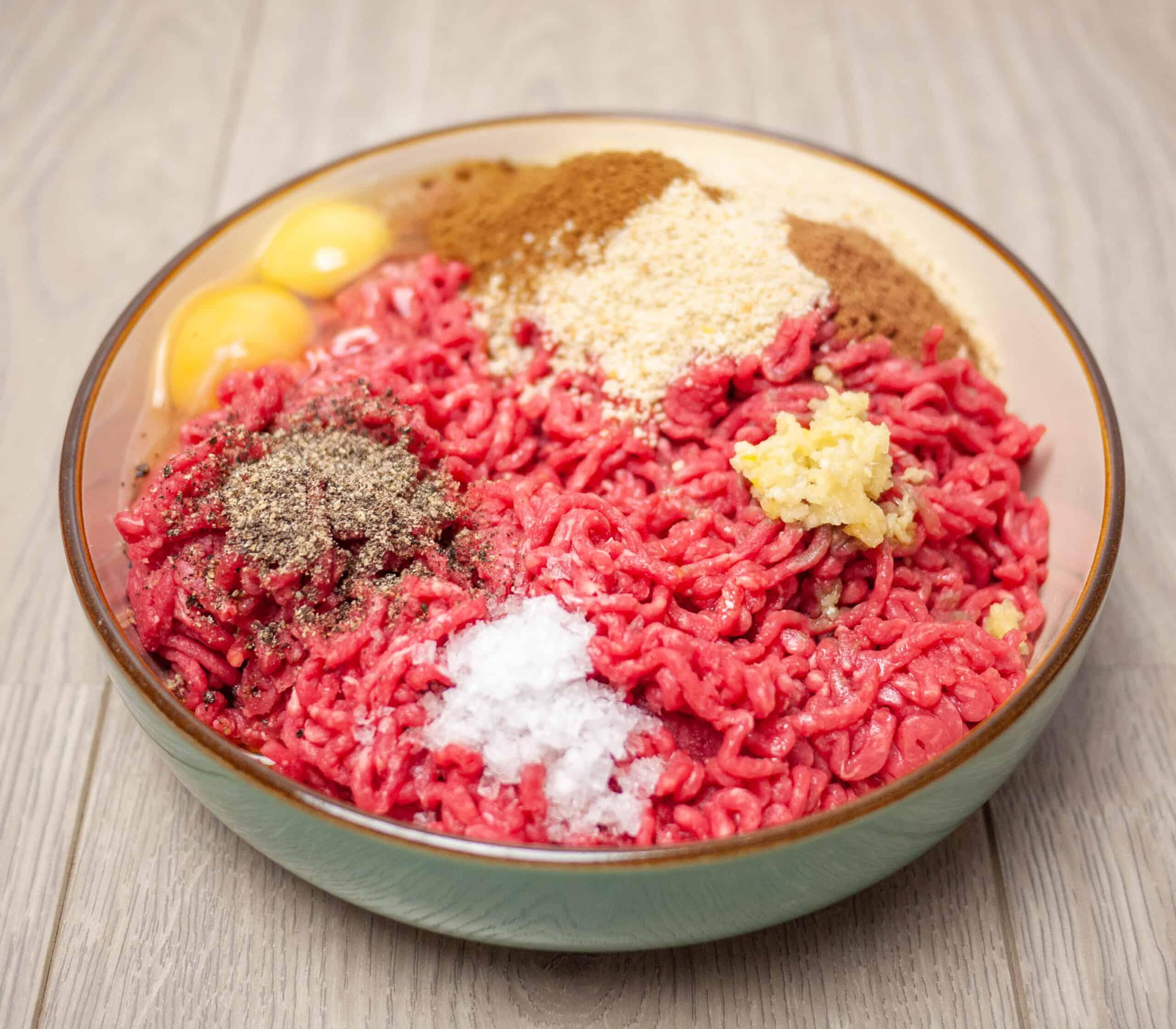 Traditional Soutzoukakia recipe ingredients