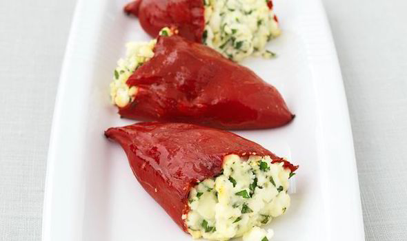 Traditional Greek Peppers Stuffed with Feta Cheese Recipe