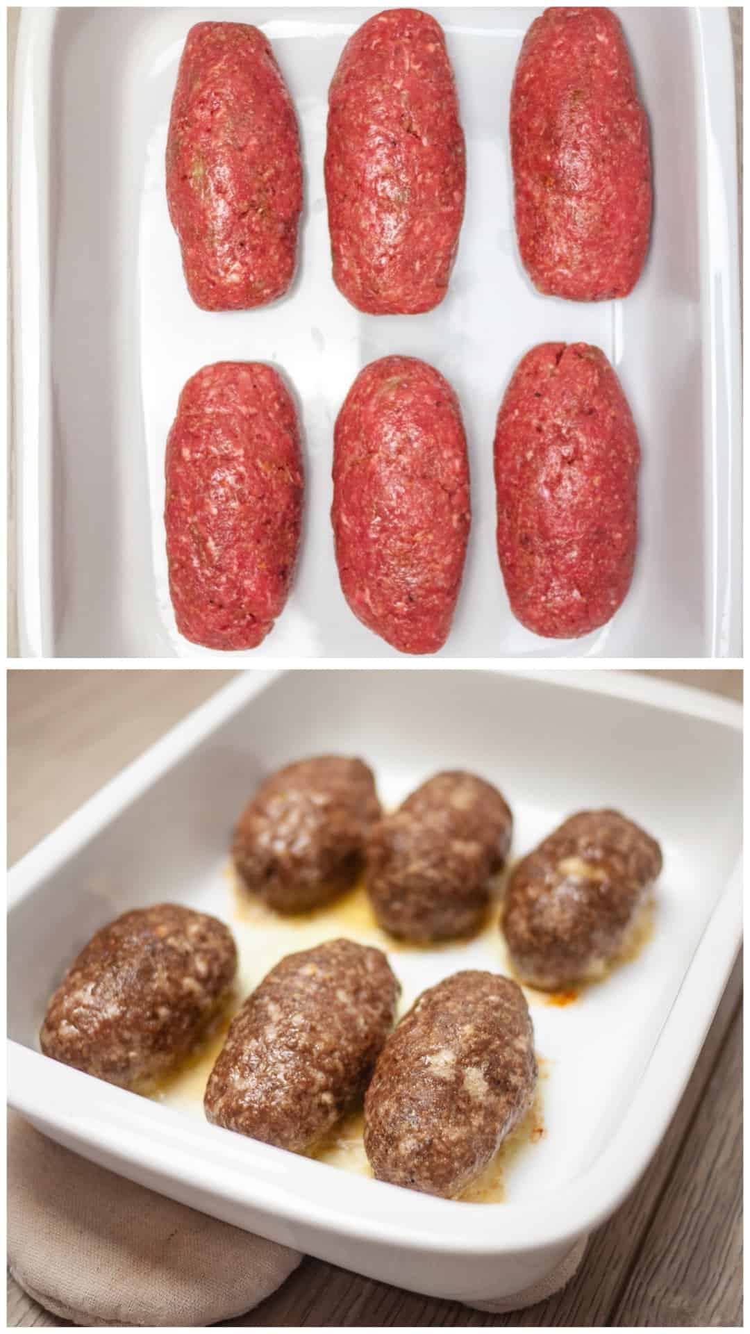 Traditional Soutzoukakia recipe (Greek baked Meatballs in tomato sauce) - preparing the meatballs
