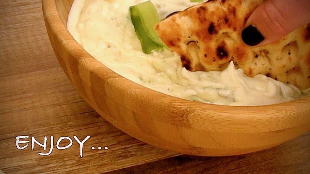 Greek Tzatziki sauce Recipe preparation