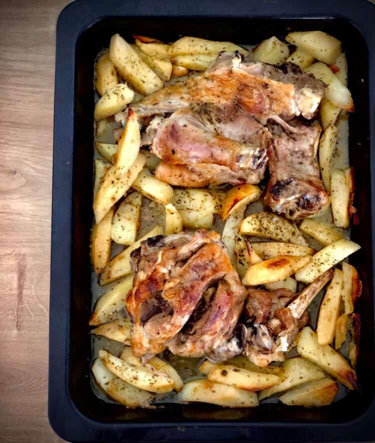 Greek roast leg of lamb with honey recipe