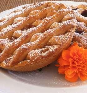 Greek Jam Tart Recipe (Pasta Flora)
