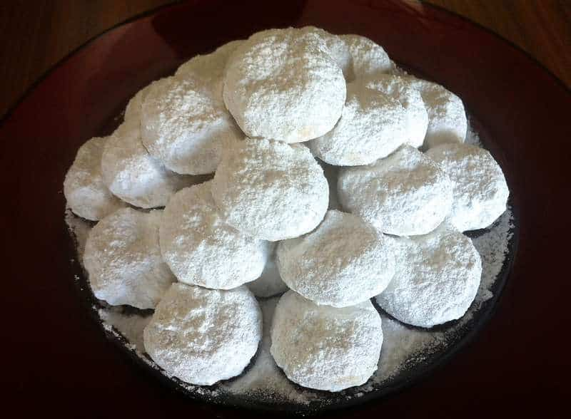 traditional kourampiedes kourabiethes greek christmas butter cookies - Greek Christmas Cookies