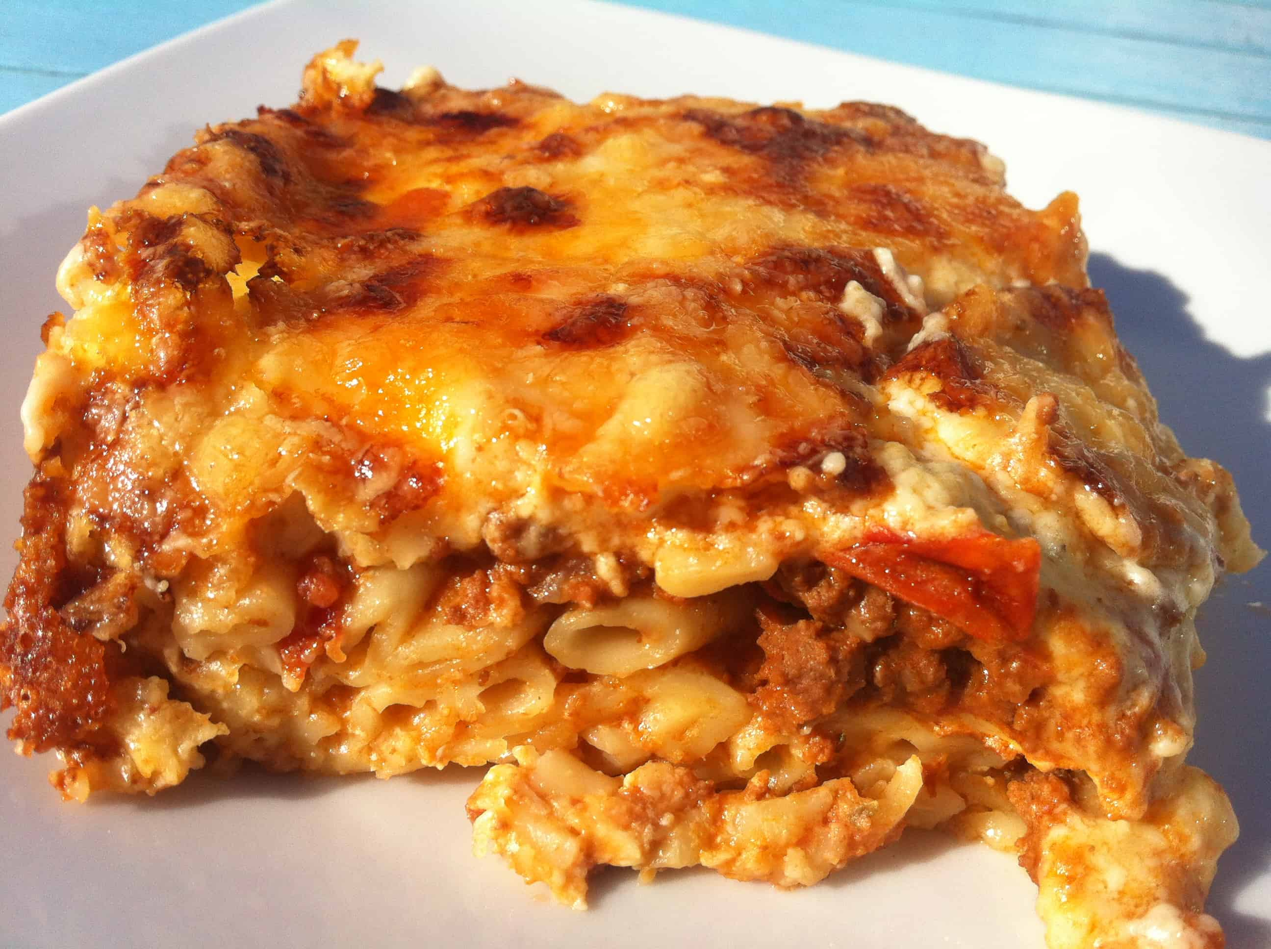 Greek Pastitsio / Pastichio recipe (Baked Greek Lasagna with Meat ...