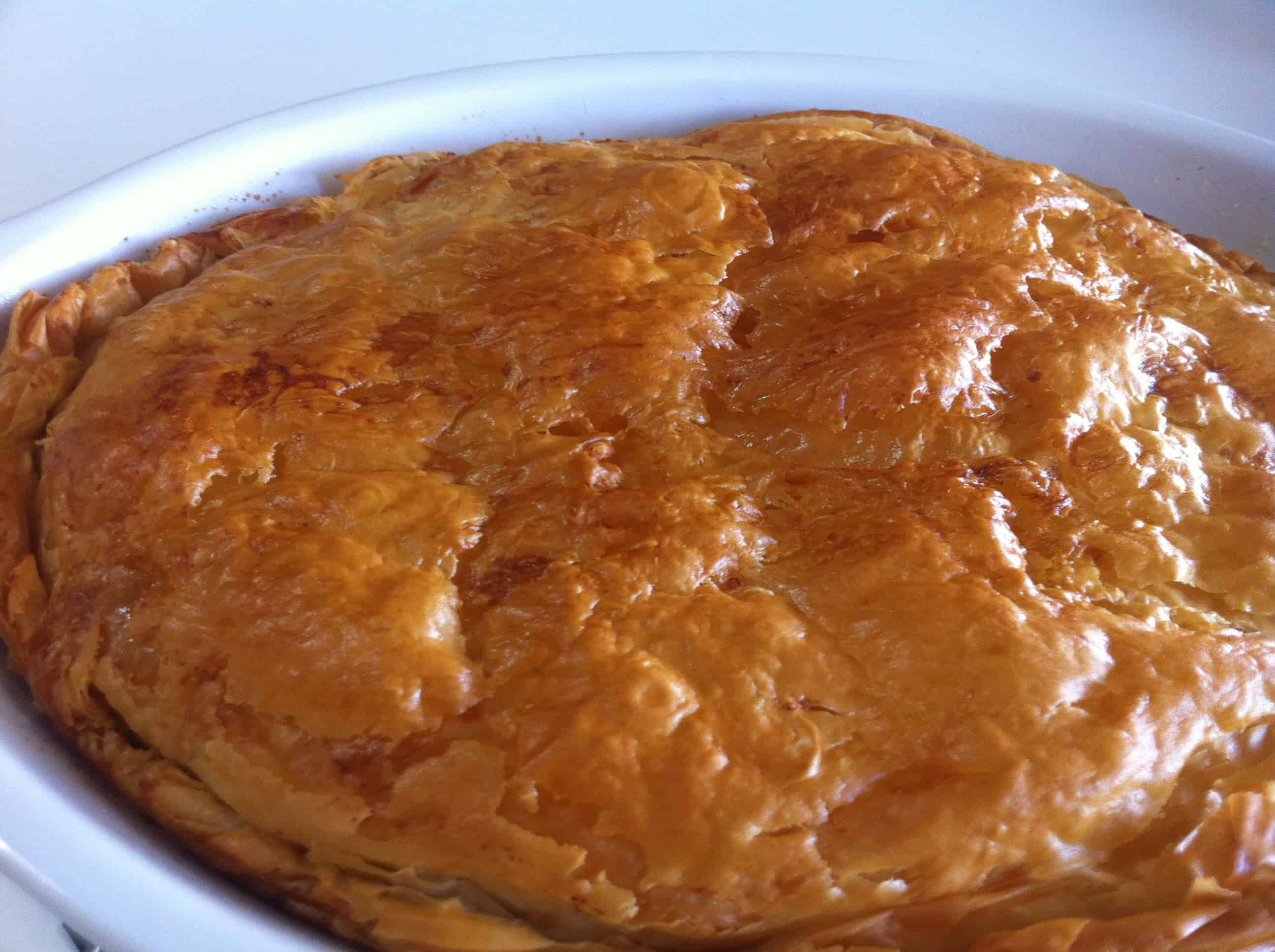 Bougatsa - Custard pie with Phyllo and ground cinnamon - My Greek Dish