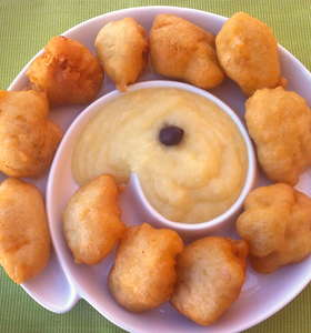 Cod Fritters with Garlic Potato Puree(Bakaliaros Skordalia)