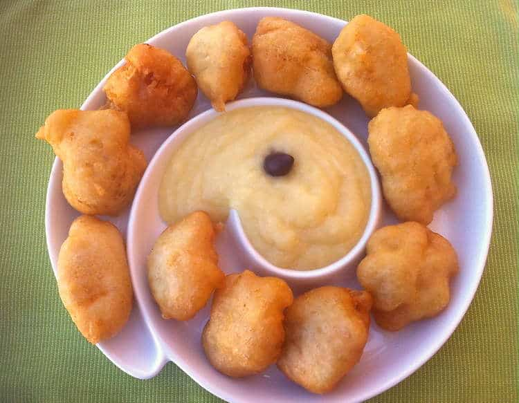 Cod Fritters with Garlic Potato Puree (Bakaliaros Skordalia)