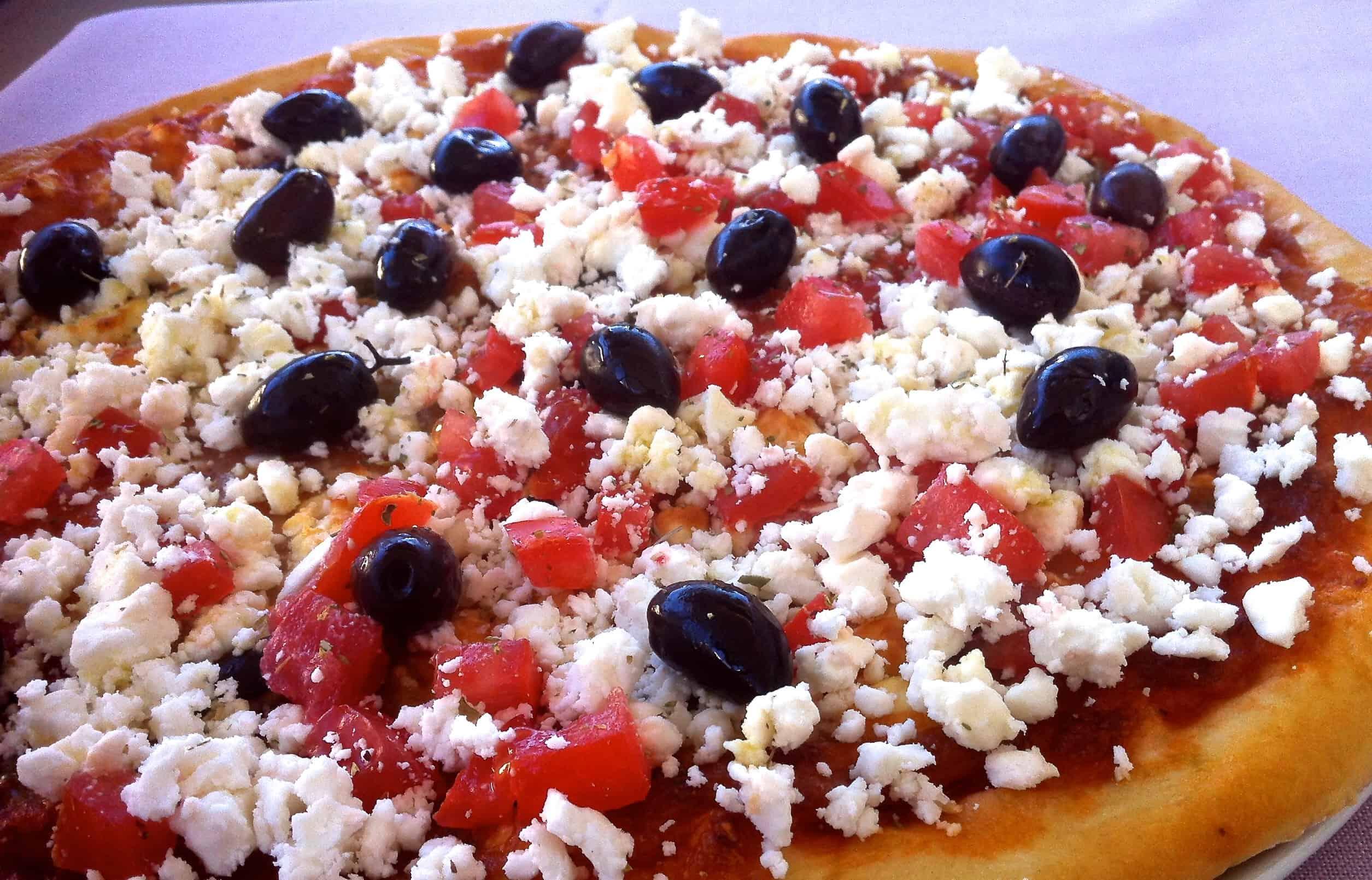 crispiest homemade greek pizza my greek dish