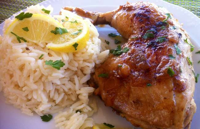 Crispy Greek Chicken Casserole with Creamy Lemon Sauce