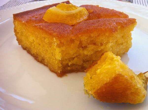Traditional Greek Yogurt Cake with Orange Syrup (Portokalopita)