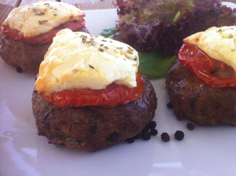 Greek Bifteki (Burger) with Feta cheese