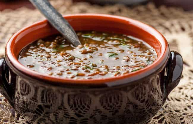 Greek Lentil Soup recipe (Fakes Soupa)