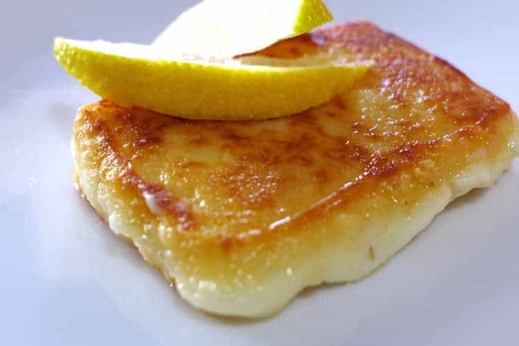 Greek Saganaki recipe (Pan-seared Greek cheese appetizer)