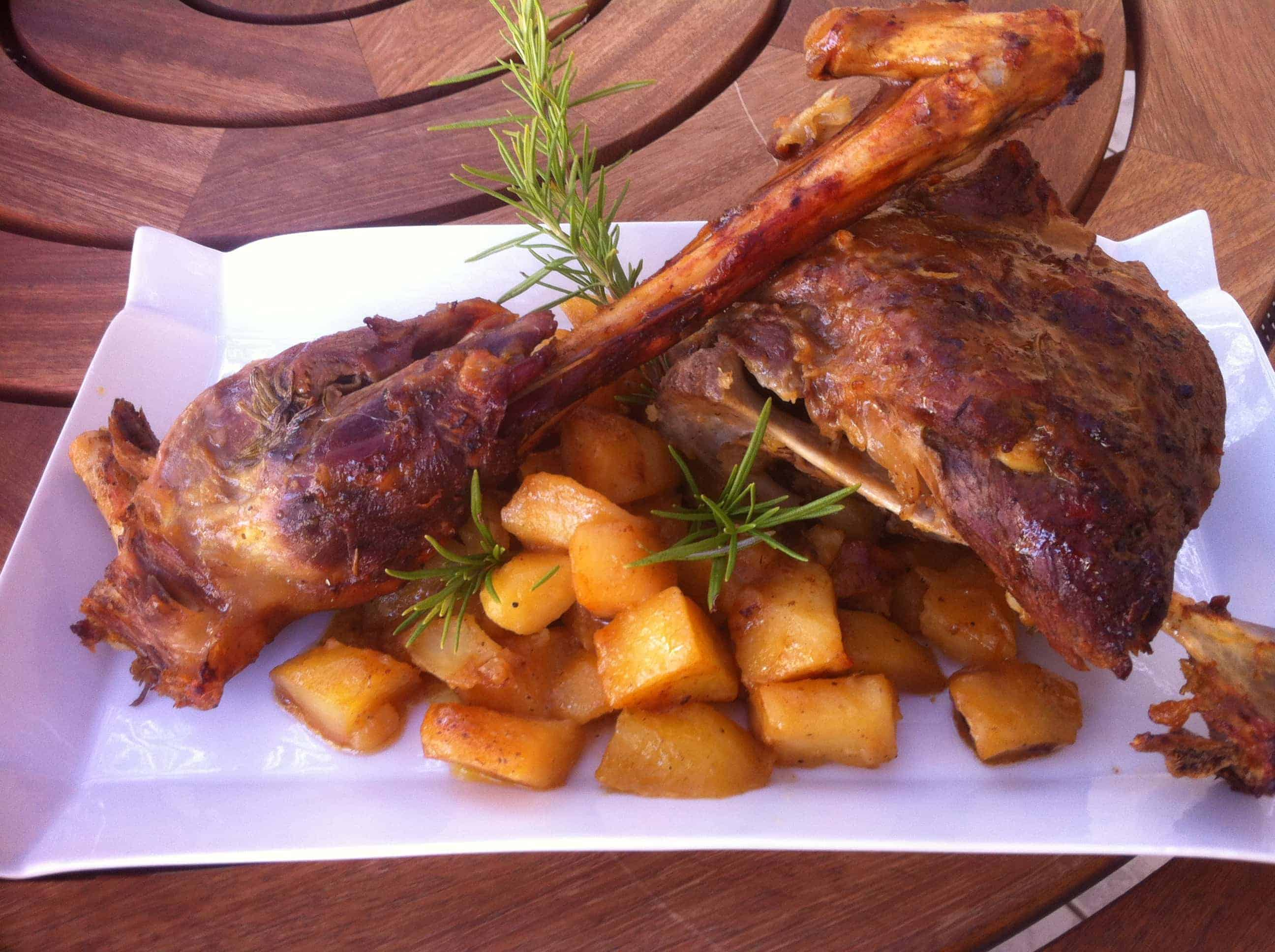 Greek Style Roast Leg Of Lamb With Lemon Roasted Potatoes Recipes ...