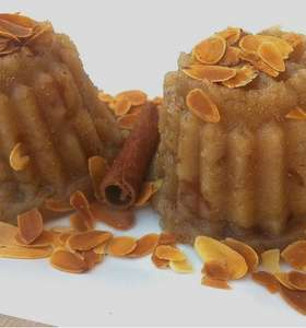 Halva (Greek Semolina Pudding with Raisins)