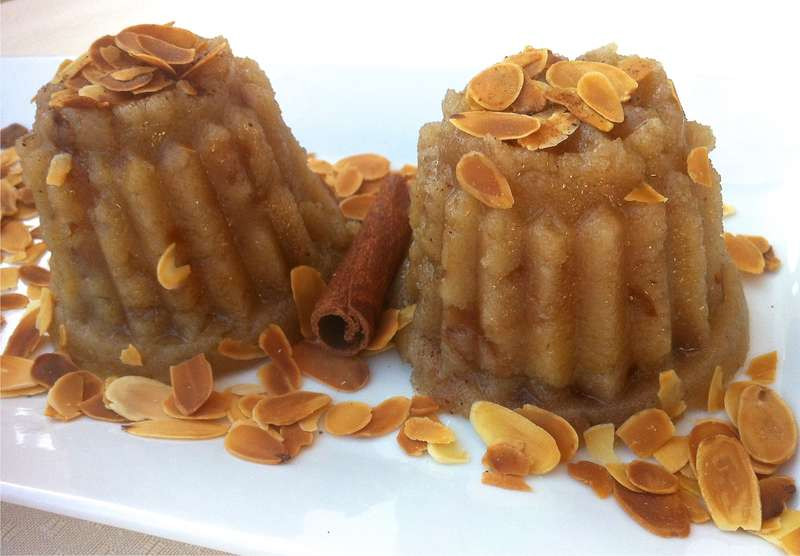 Halva (Greek Semolina Pudding with Raisins)