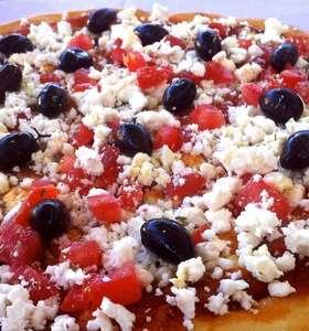 Homemade Feta cheese Pizza recipe