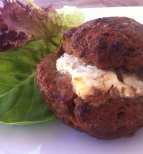 Juicy Stuffed Burgers with Feta Cheese