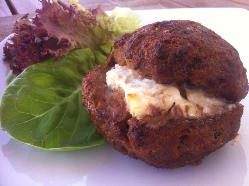 Juicy Stuffed Burgers with Feta Cheese