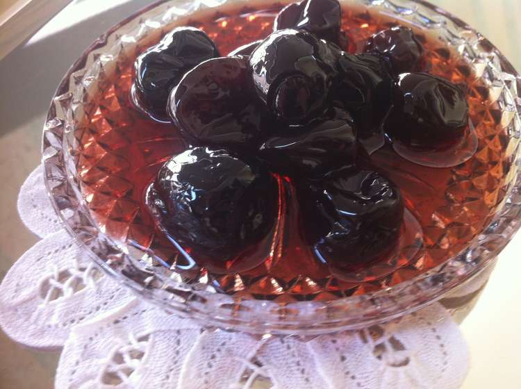 Sour Cherry Spoon Sweet Preserve (Vyssino Glyko koutaliou)