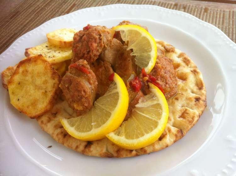 Tigania recipe (Greek pan fried pork)