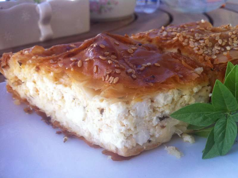 Traditional Tiropita recipe (Greek cheese Pie with feta)