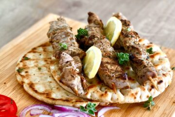 Greek pork souvlaki skewers (Kebabs)