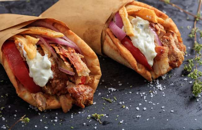 Homemade Greek Pork Gyros Souvlaki