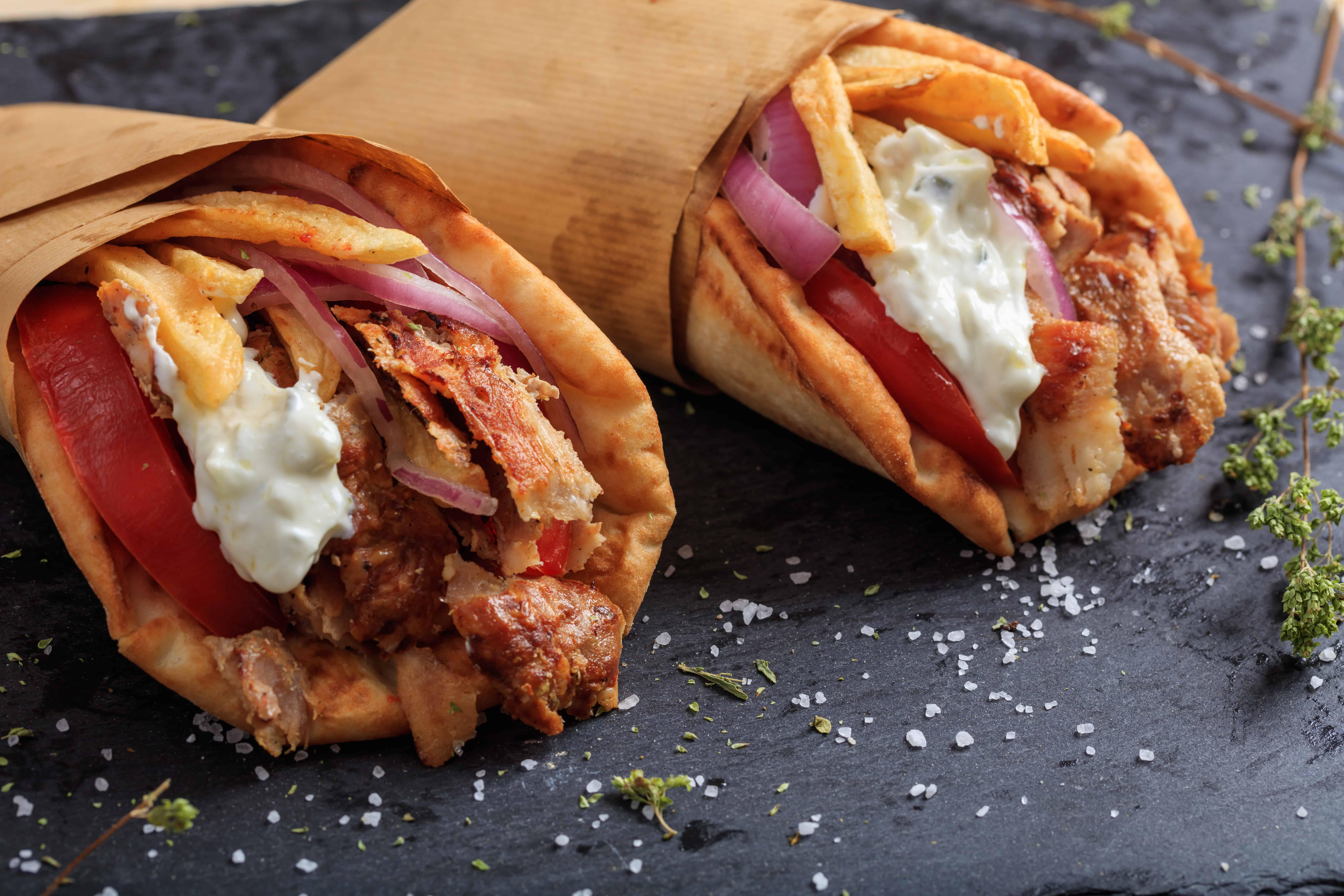 Homemade Greek Pork Gyros Souvlaki recipe