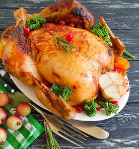 Lemon Recipes - Festive Roast Turkey with Rosemary, Garlic and Lemon Sauce