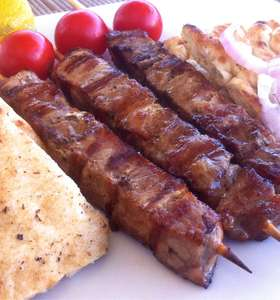 Pork Souvlaki (Skewers) with Tzatziki Sauce