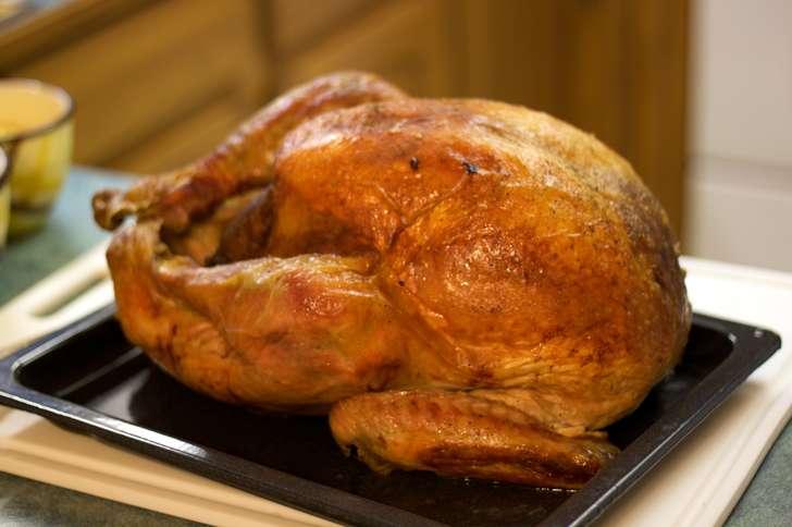 Roast Turkey with Rosemary, Garlic and Lemon Sauce