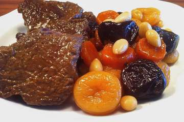 Amazing Christmas Veal with Fruit & Nuts