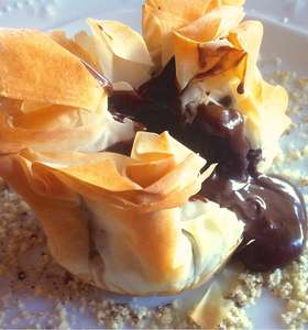 Chocolate Souffle in Baklava Pouches recipe!