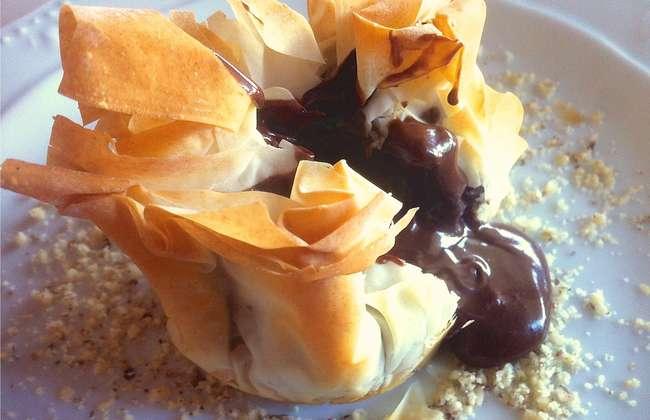 Chocolate Souffle in Baklava Pouches recipe!