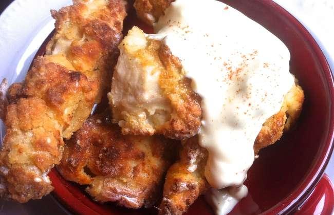 Crispiest oven-baked Chicken Fingers in Amazing Yogurt Crust