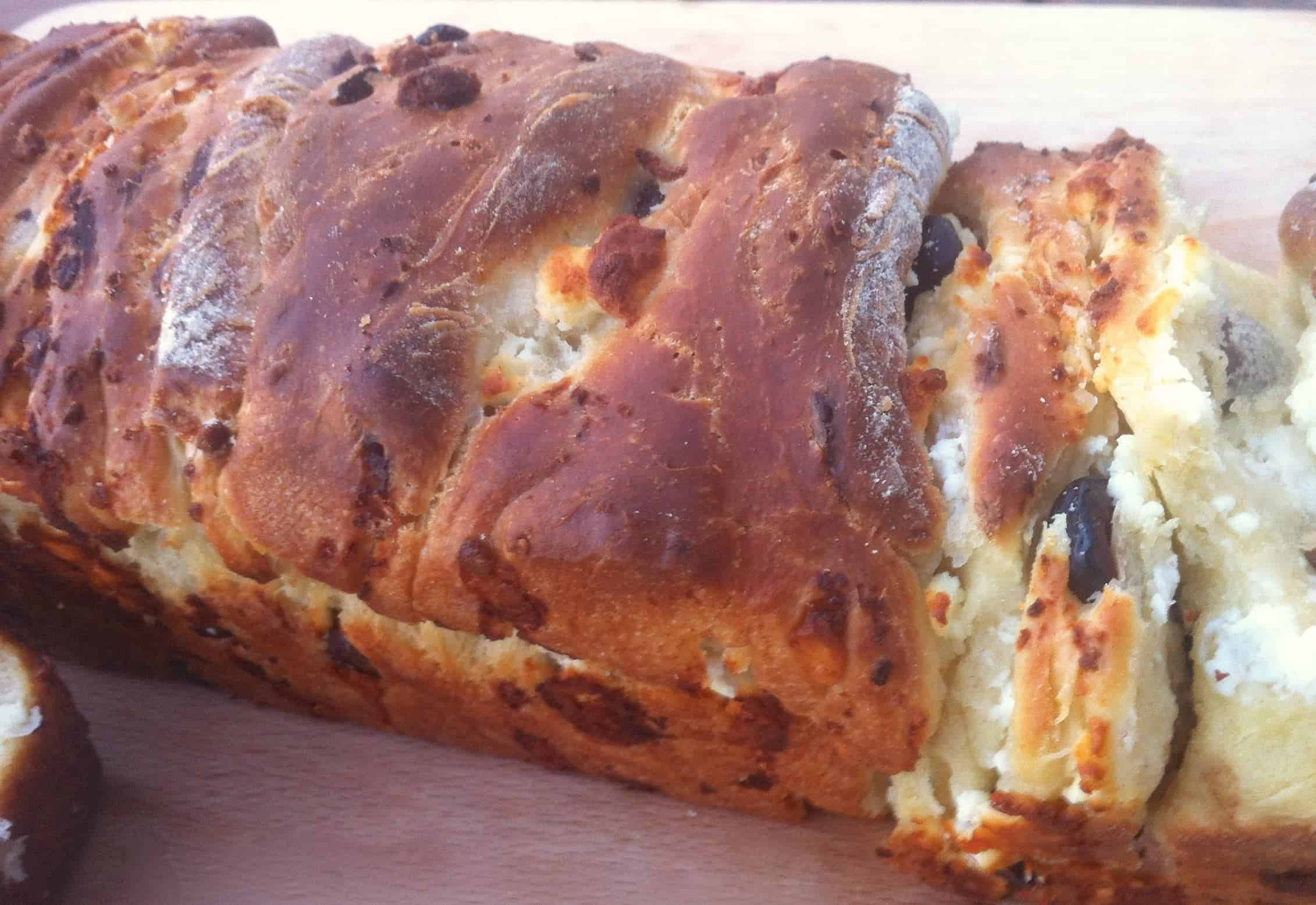 Delicious Brioche-style Olive Bread (Liopsomo) - My Greek Dish