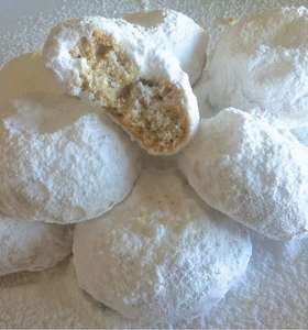 Easiest Homemade Kourabiedes recipe (Greek Christmas Butter Cookies)