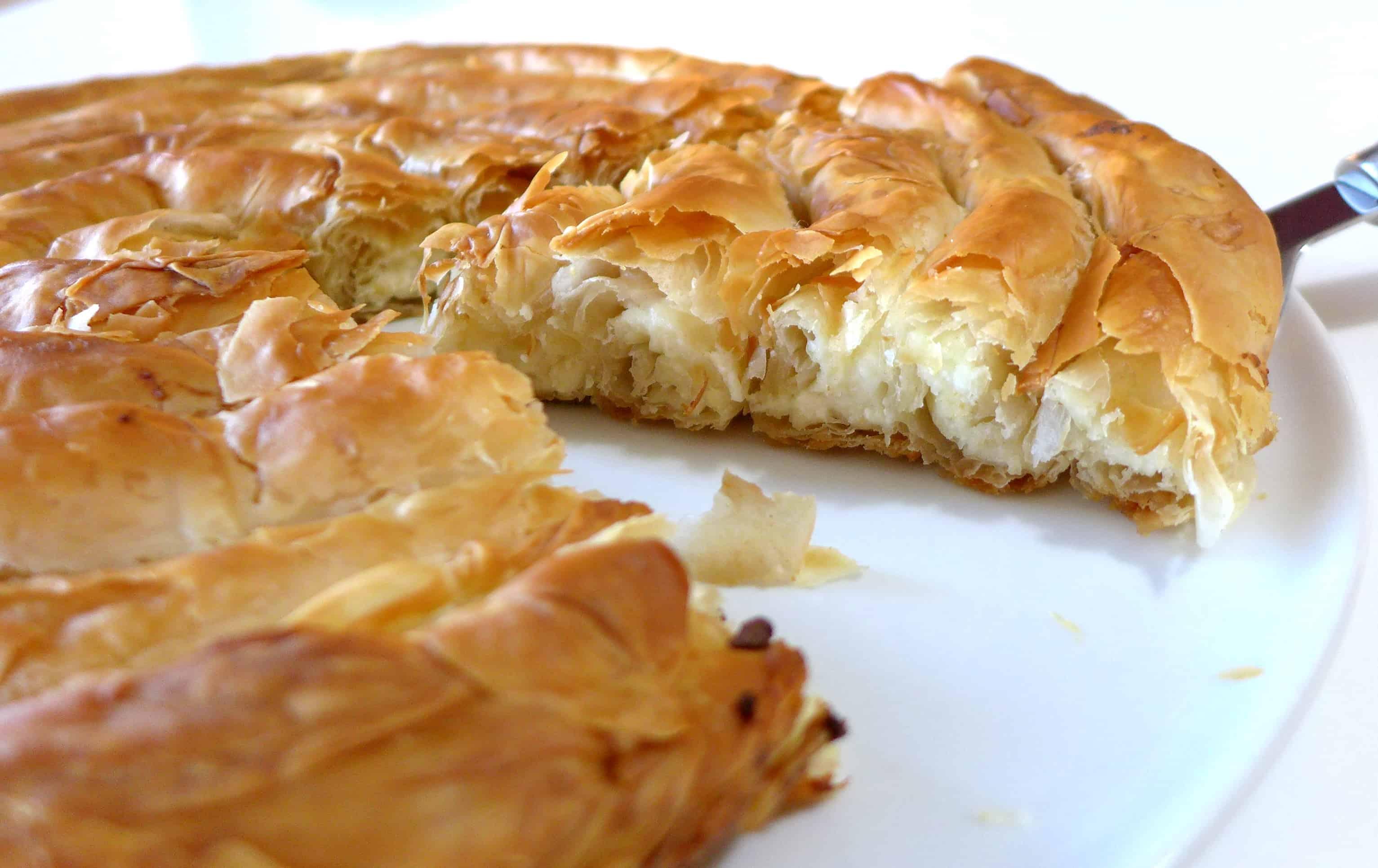 Greek Snail Cheese Pie Kichi Kozanis 2 My Greek Dish