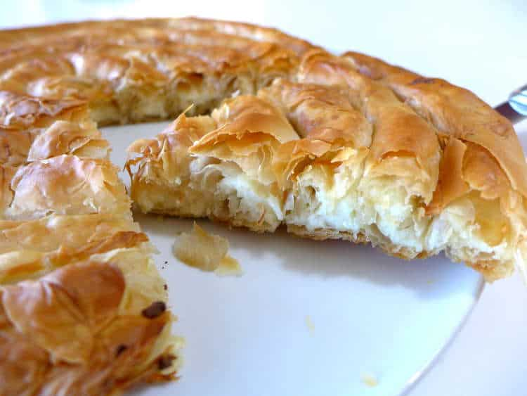 Greek 'snail'-shaped Cheese pie recipe (Kichi Kozanis)
